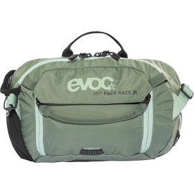 EVOC Hip Pack Race Backpack 3 L + Hydration Bladder 1,5 L, olive-light petrol